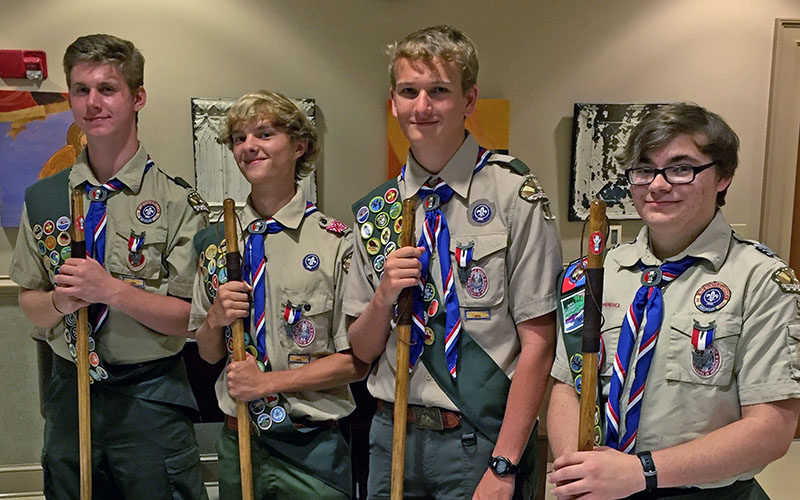August Eagle Scouts