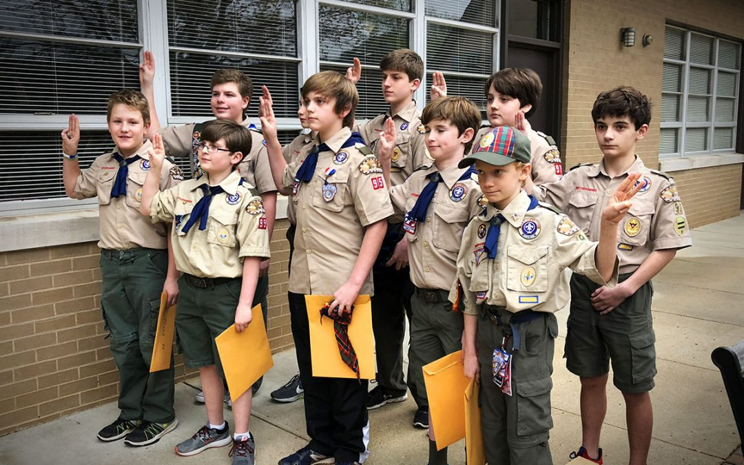 Troop 97 welcomes new scouts at crossover